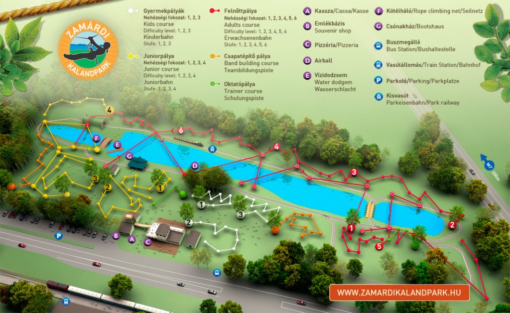 békéscsaba látnivalók térkép Zamárdi Kalandpark , Zamárdi   Helyszín, megközelíthetőség, Belépő  békéscsaba látnivalók térkép